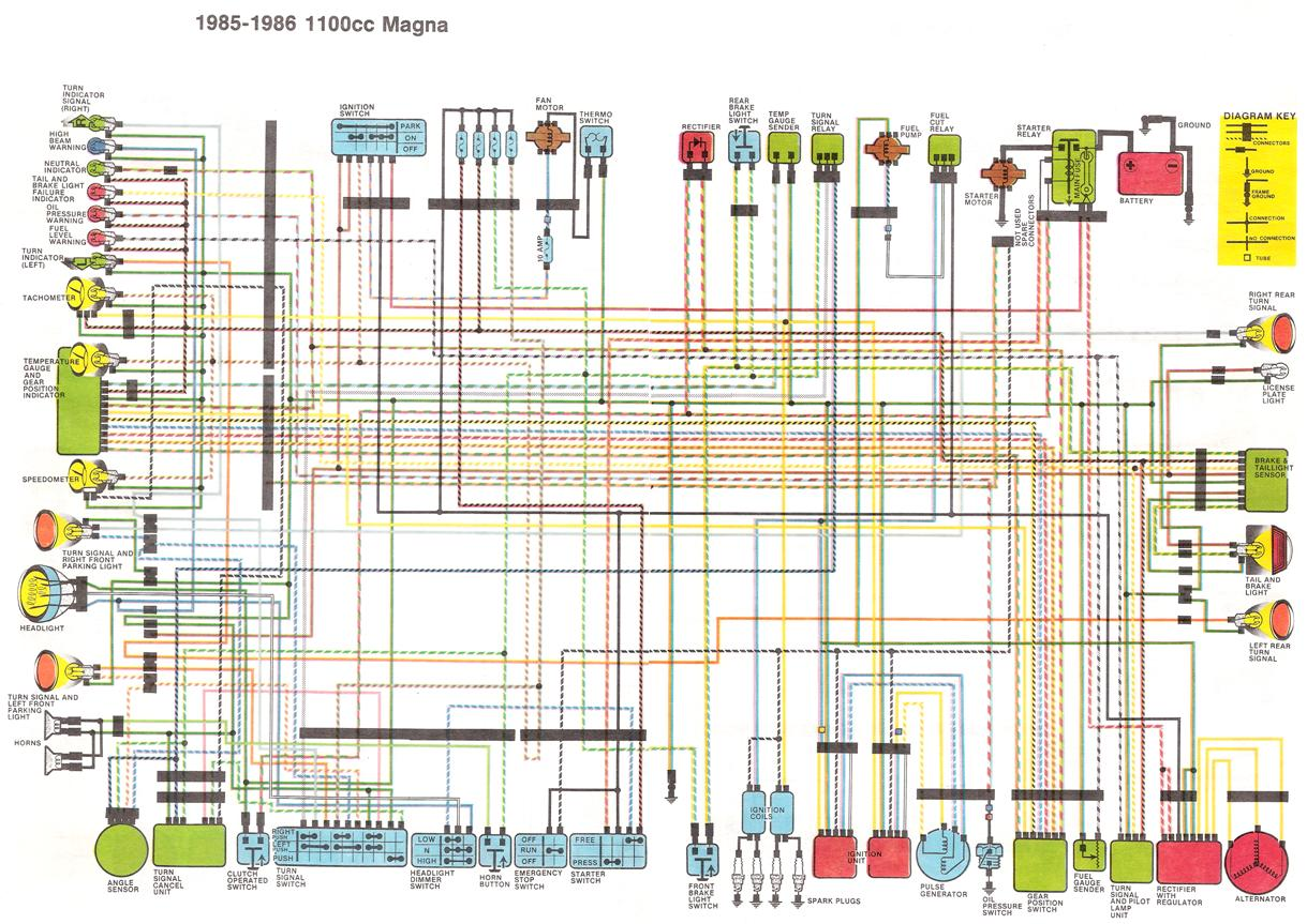 hot wire a magna v4musclebike com this is a close wiring diagram of the bike see the 3 wires on the right half of the ignition switch just connect them all together and the bike will run