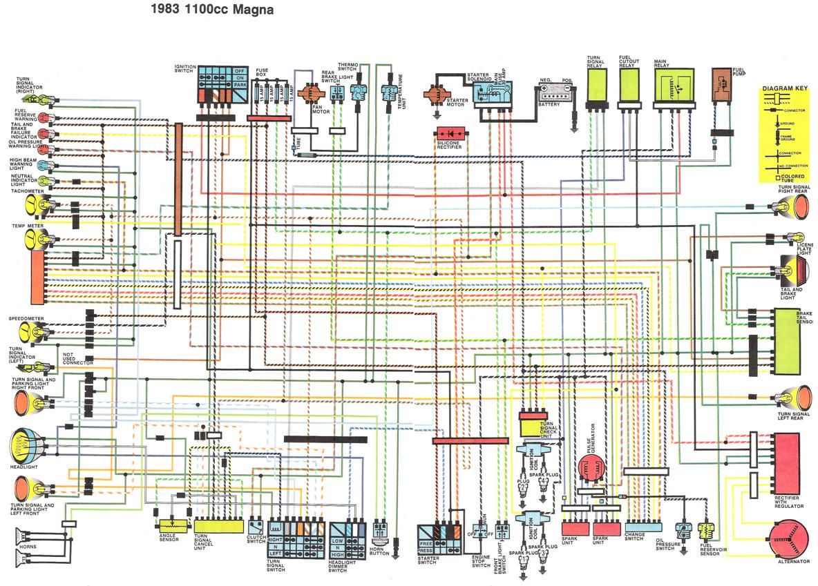 1983 1100cc Magna Wiring Diagram 100 [ honda shadow 1100 manual 2006 ] motorcycle wiring 1984 honda vt700c wiring diagram at bayanpartner.co